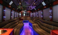 A Limousine Bus Interior Picture
